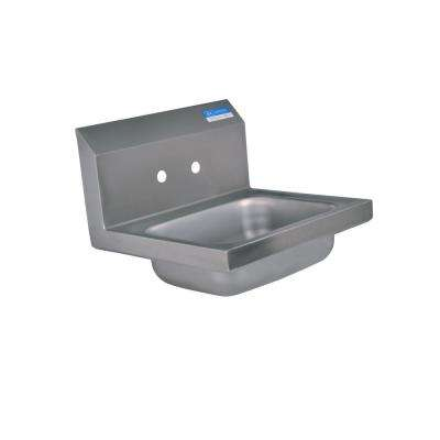 12 in. x 14.5 in. x 13 in. Stainless Steel Space Saver Wall Mount Hand Sink
