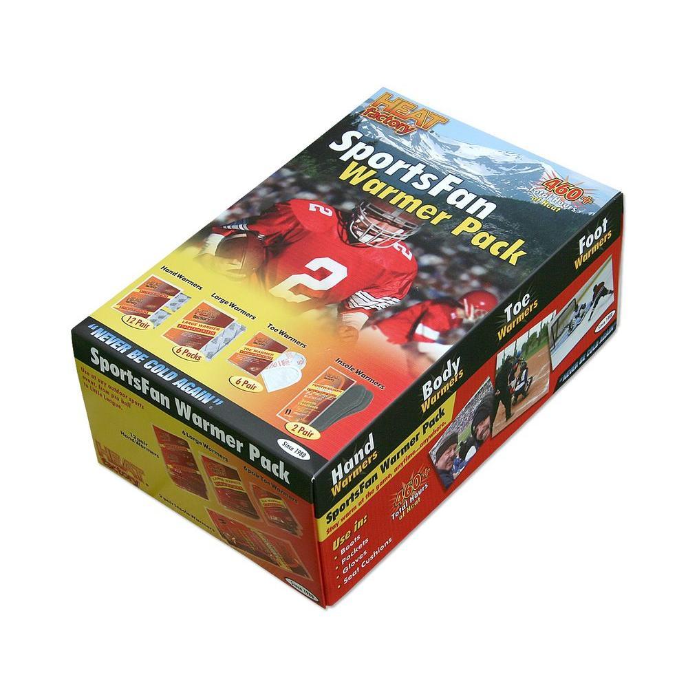 Sportsfan Warmer Kit(12 Pair of Hand Warmers,6 Pair of Toe Warmers,6