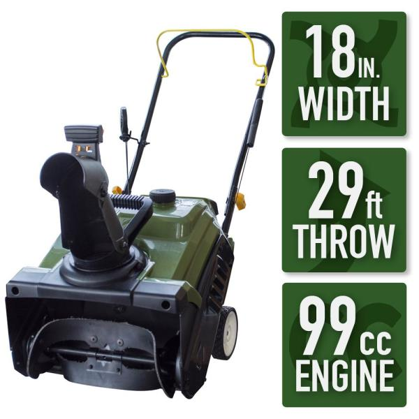 Sportsman Earth Series 18 in. Single-Stage Gas Snow Blower