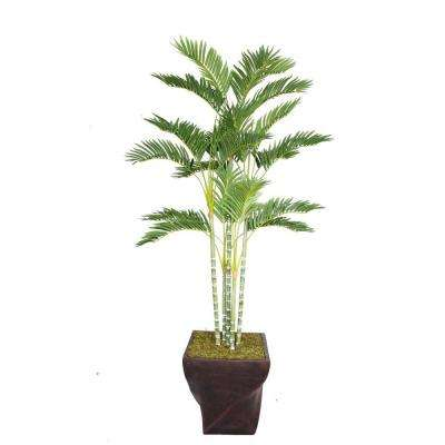 78 in. Tall Palm Tree in 17 in. Fiberstone Planter