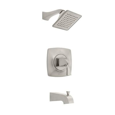 Leary Curve Single-Handle 1-Spray Tub and Shower Faucet in Brushed Nickel (Valve Included)