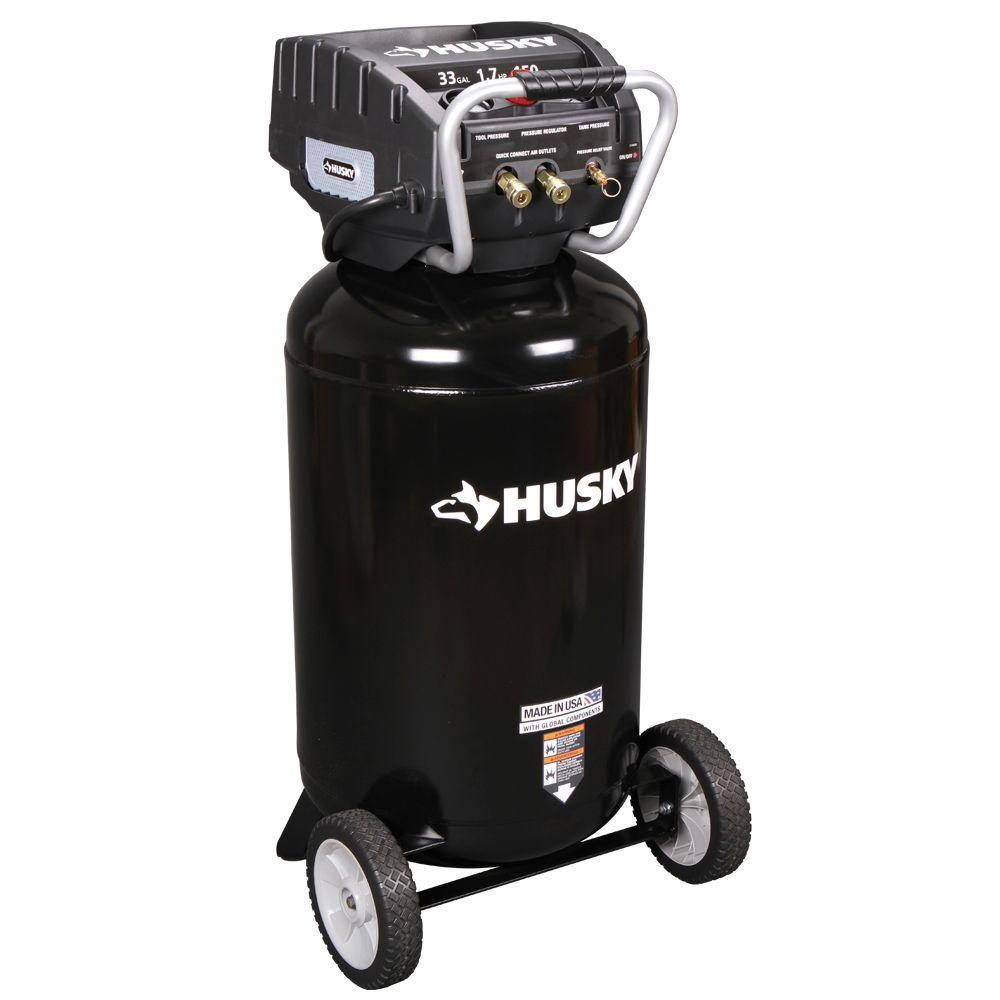Husky 33-Gal. Portable Electric Air Compressor-DISCONTINUED