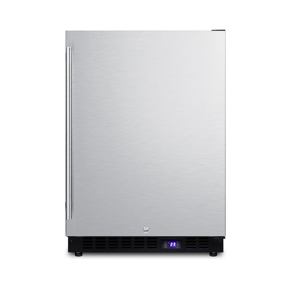 Summit Appliance 4.7 cu. ft. Frost Free Upright Freezer In Stainless Steel