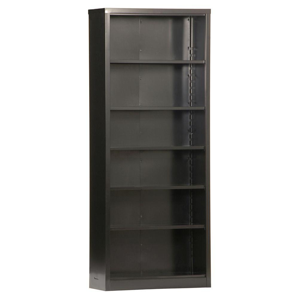 Sandusky Black Steel Bookcase