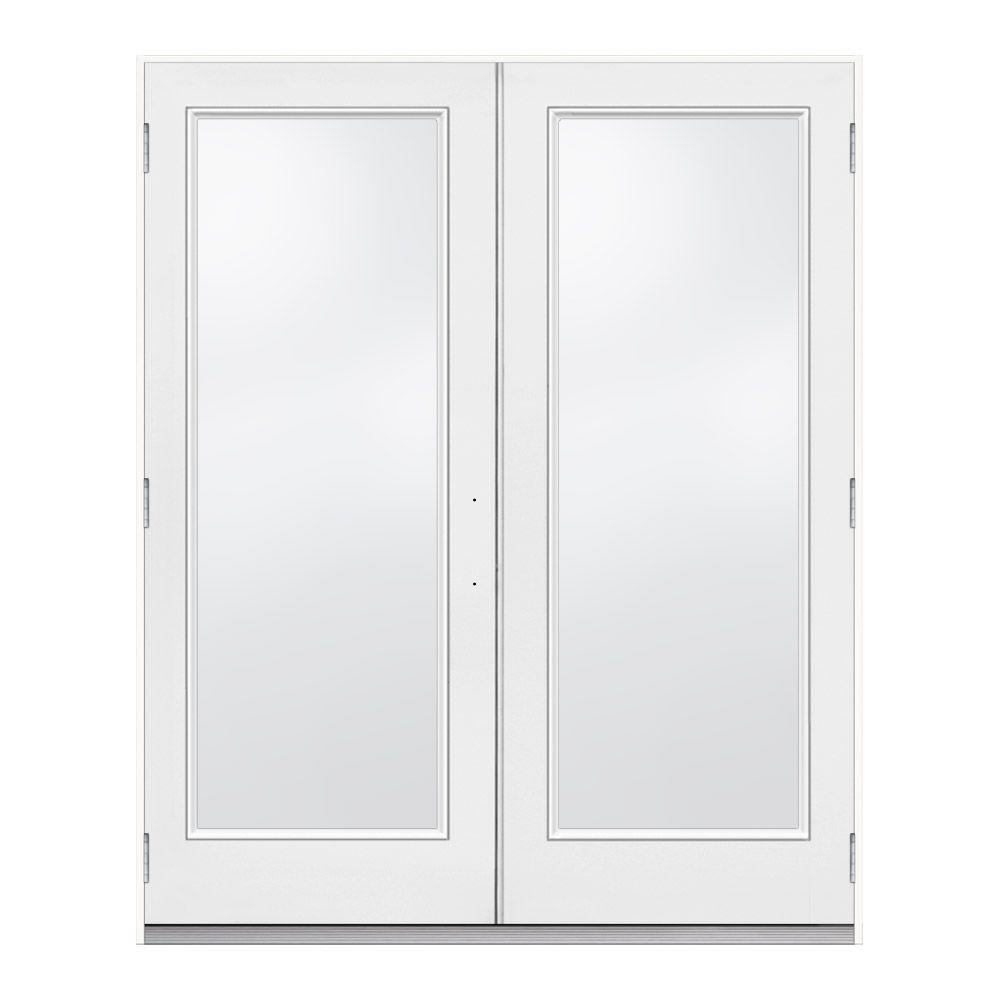 JELD WEN 72 In. X 80 In. White Right Hand Outswing French