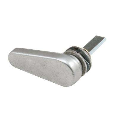 1 in. L Spindle Gray Die Cast Sliding Door Latch Lever