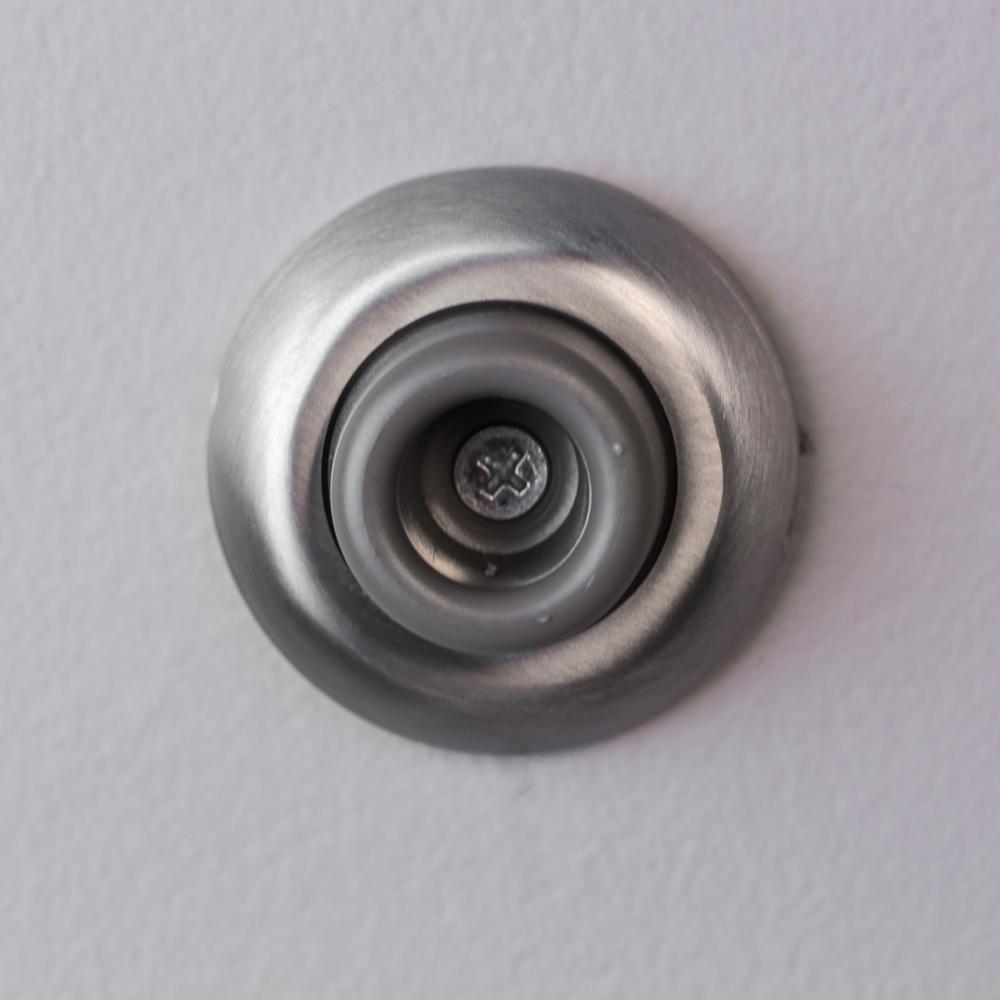 Everbilt Satin Chrome Wall Door Stop 15055 The Home Depot