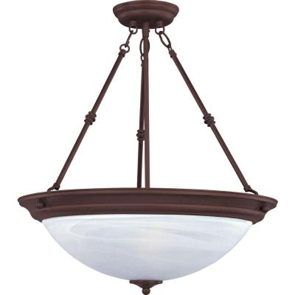 Essentials 3-Light Oil-Rubbed Bronze Pendant