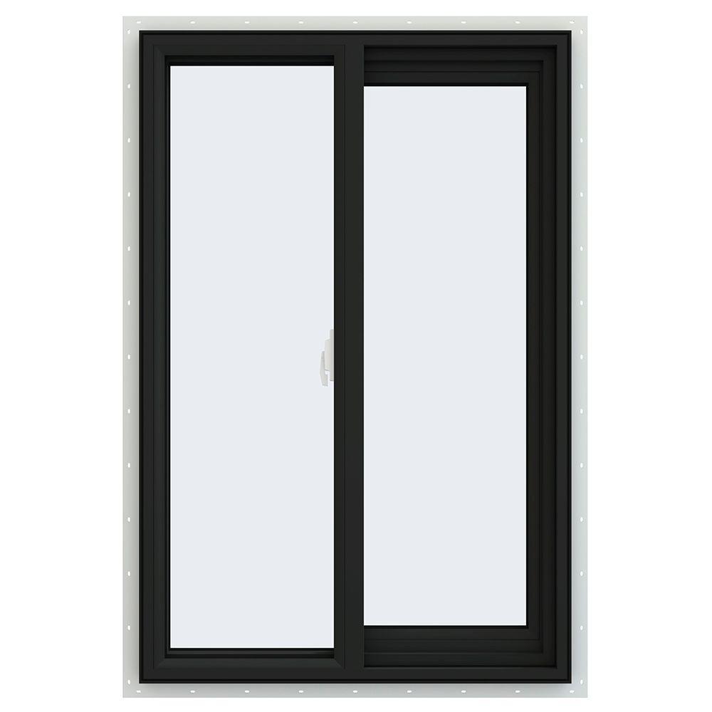 JELD-WEN 23.5 in. x 35.5 in. V-2500 Series Right-Hand Sliding Vinyl Window - Bronze