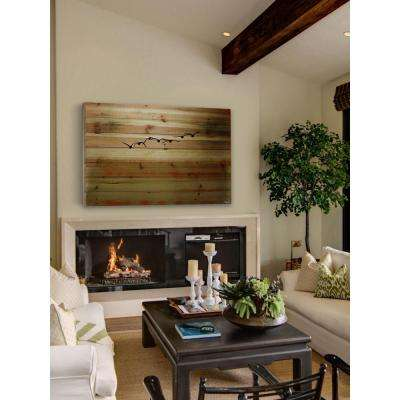 "30 in. H x 45 in. W ""Sun Flight"" by Parvez Taj Printed Natural Pine Wood Wall Art"