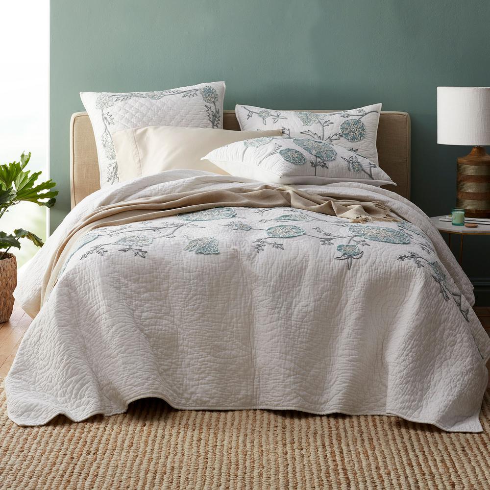 The Company Store Alden Floral Cotton King Quilt 50361Q-K-MULTI
