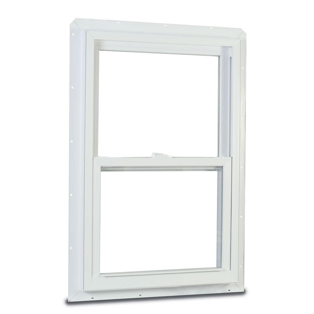 70 Single Hung Fin Storm Defense Vinyl Window White