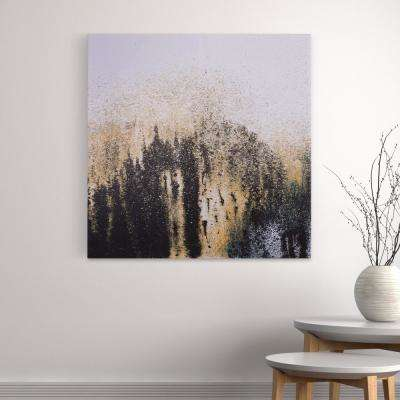 Stars in Night Modern Canvas Wall Art