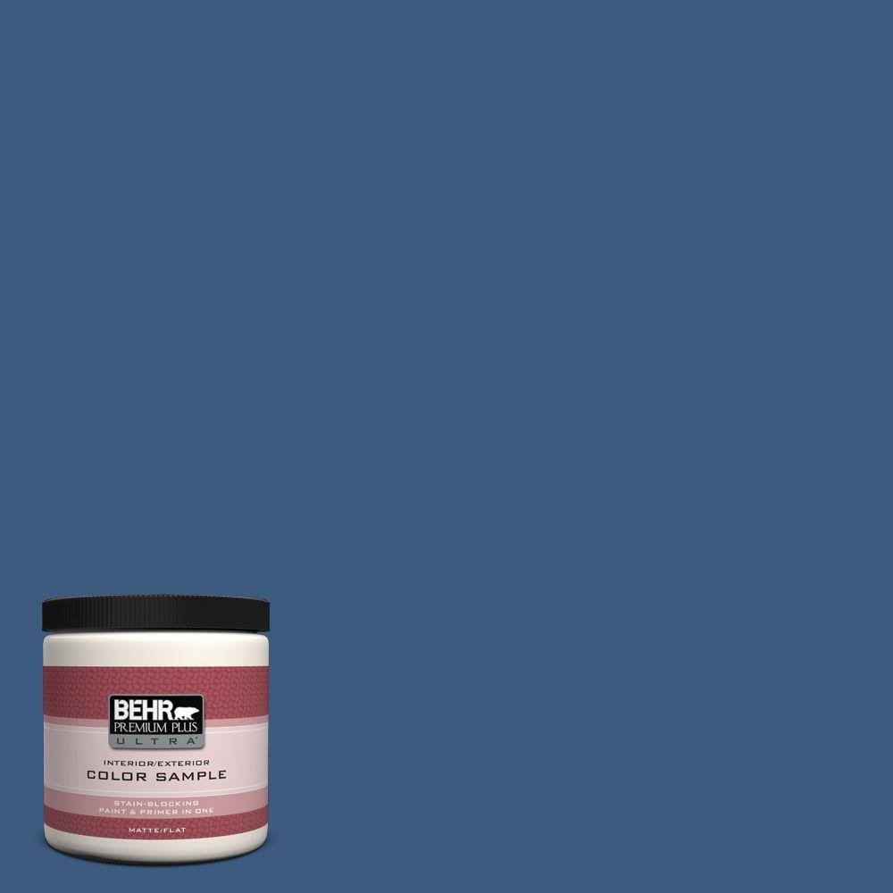 M520 7 Admiral Blue Matte Interior Exterior Paint And Primer In One Sample