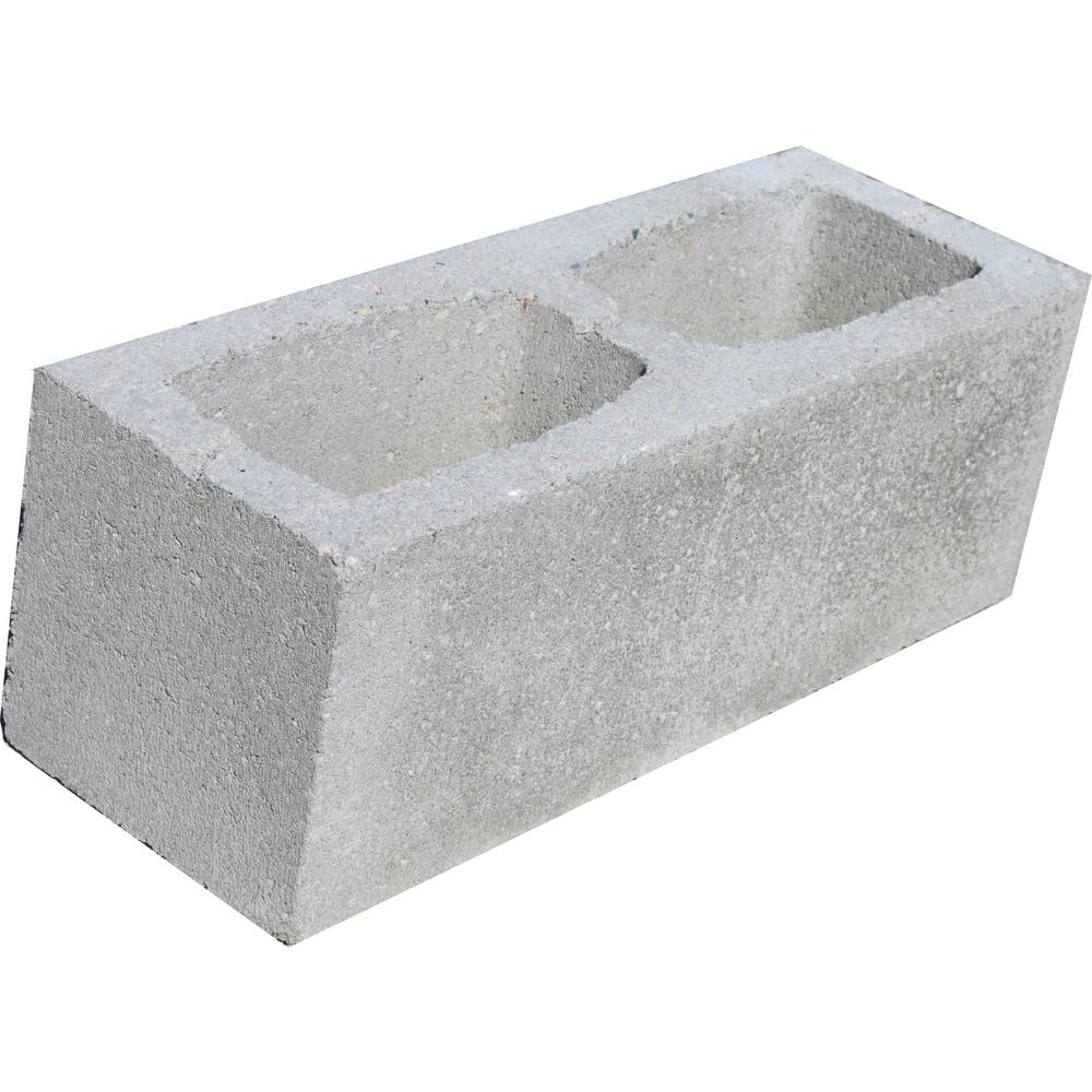 6 in. W x 8 in. H x 16 in. D Concrete Block