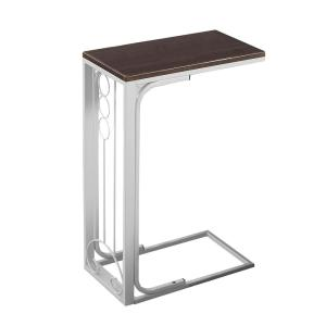Jasmine 24.5 in. Cherry/White, MDF Top and Metal Base - Accent Table