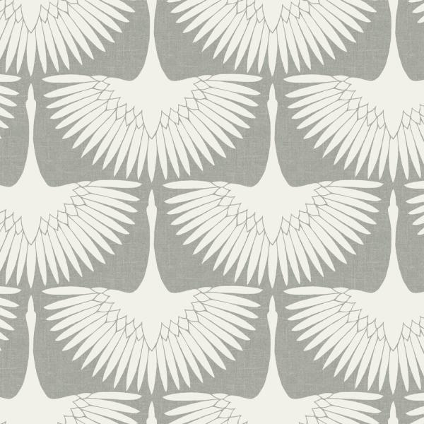 Tempaper Genevieve Gorder Feather Flock Chalk Self-Adhesive Removable Wallpaper