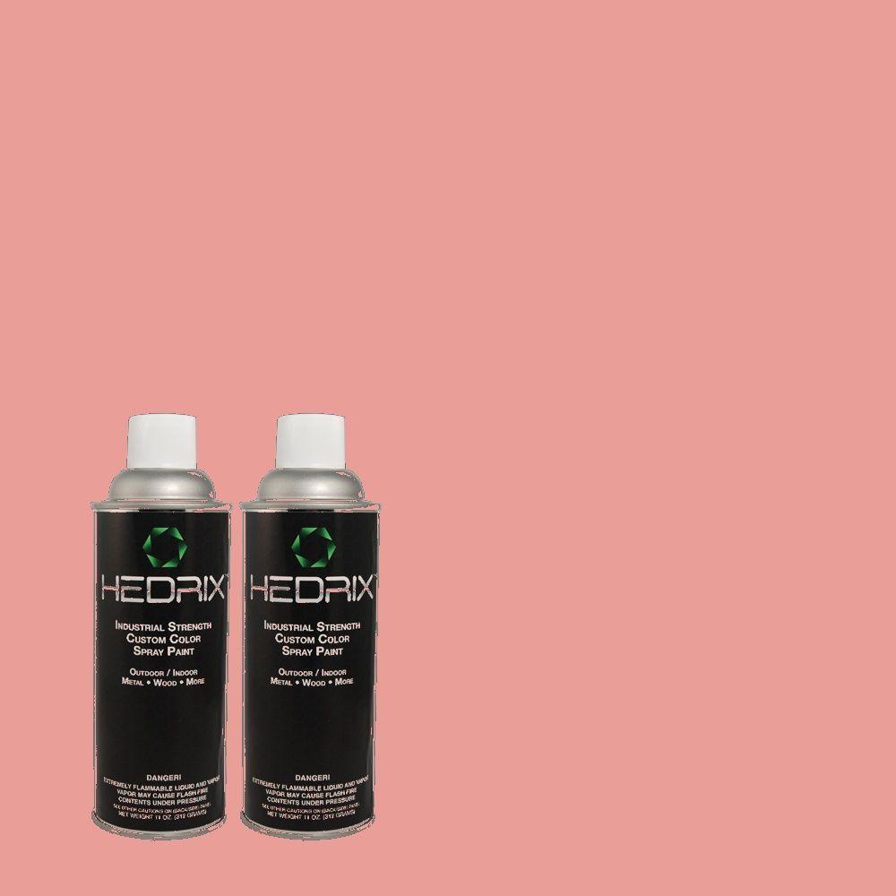Hedrix 11 oz. Match of 1A25-4 Open Rose Flat Custom Spray Paint (2-Pack)