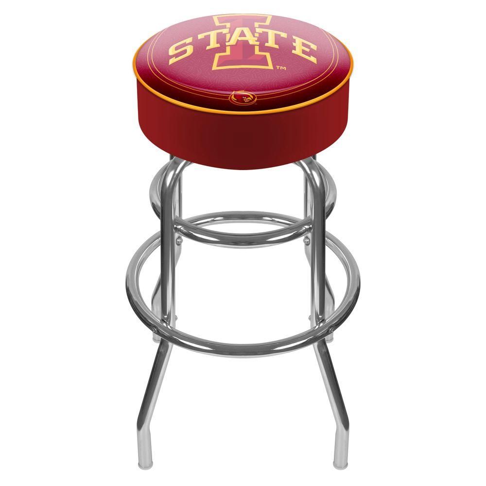 Iowa State University 31 in. Chrome Padded Swivel Bar Stool