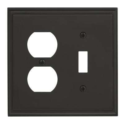 Mulholland 1 Toggle, 1 Receptacle Black Bronze Wall Plate