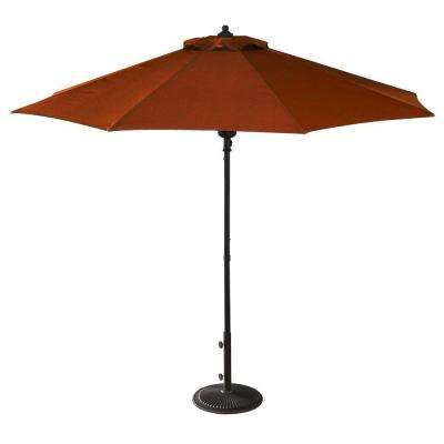 Cabo Auto-Open 9 ft. Octagonal Market Patio Umbrella in Terra Cotta Olefin