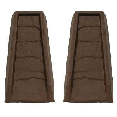 Block Chocolate Gutter Down Spout Splash (2-Pack)