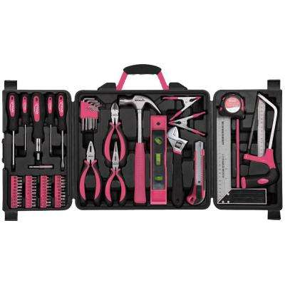 Household Tool Kit in Pink (71-Piece)