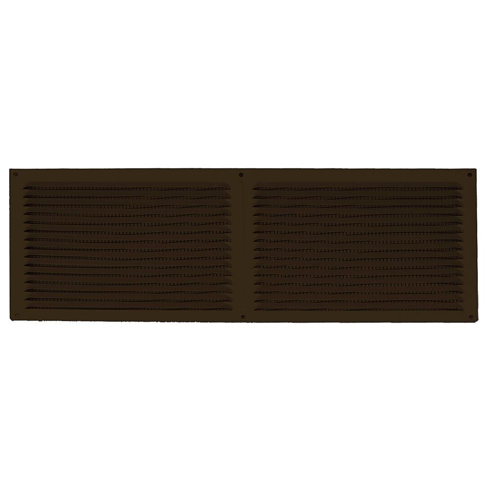 16 in. x 6 in. Aluminum Louvered Soffit Vent in Brown