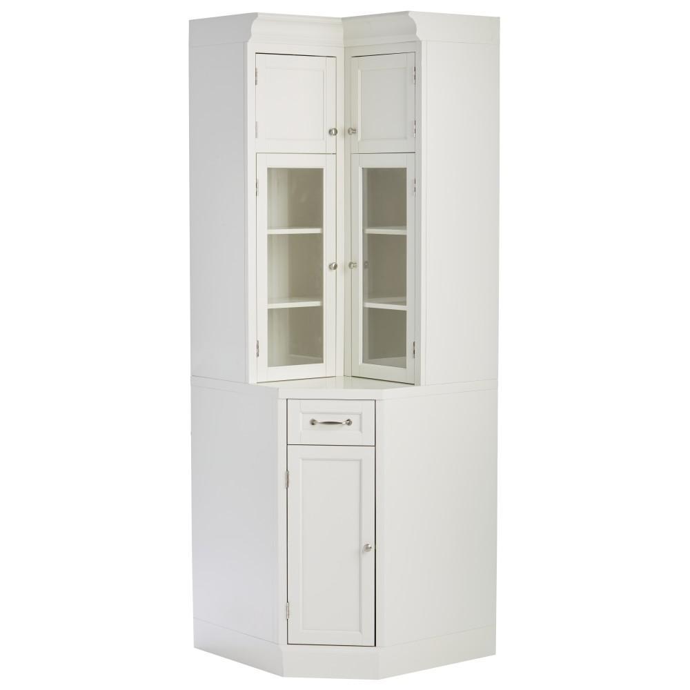 Royce True White Modular Corner Cabinet