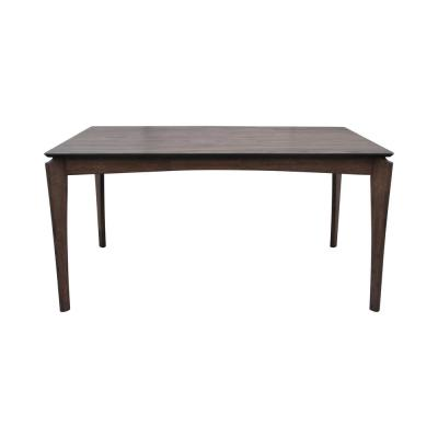 Wren Rectangular Natural Walnut Brown 6-Seater Wooden Dining Table