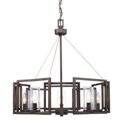 Reddington Collection 5-Light Gunmetal Bronze Chandelier