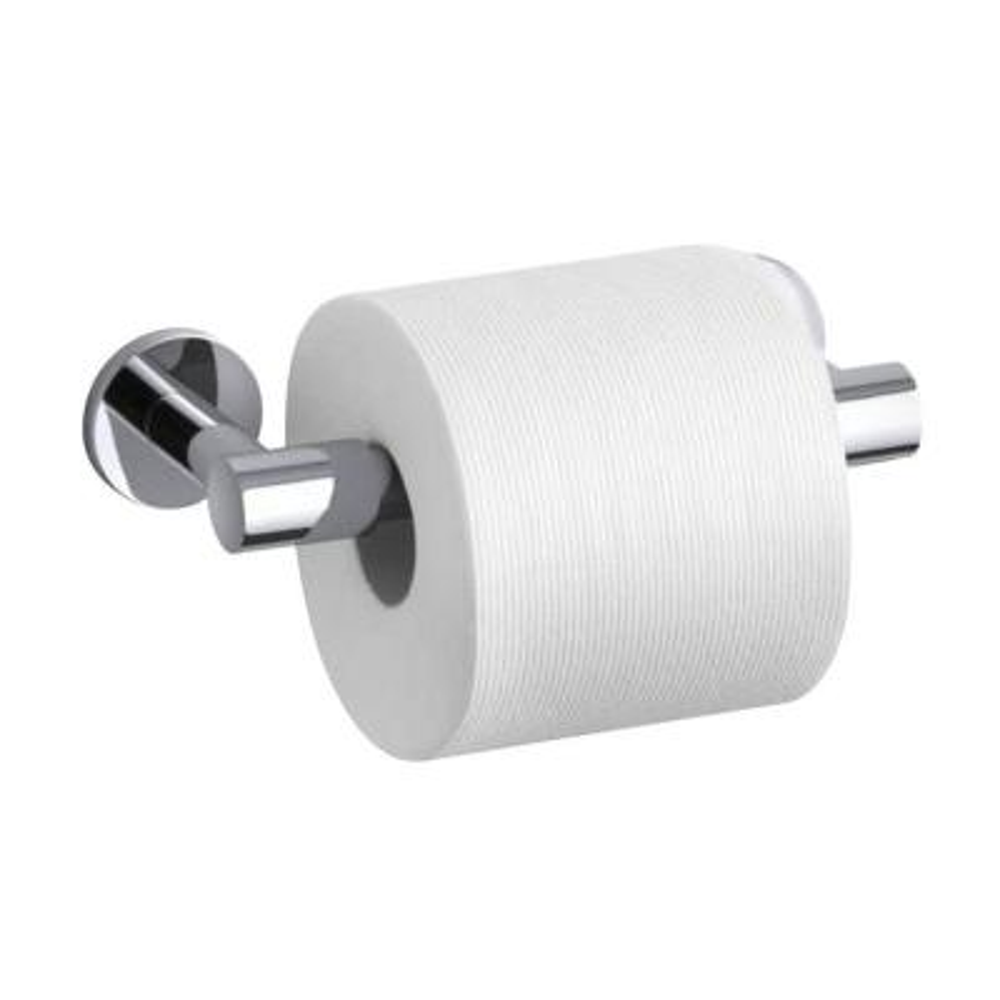 Stillness Double Post Toilet Paper Holder in Polished Chrome