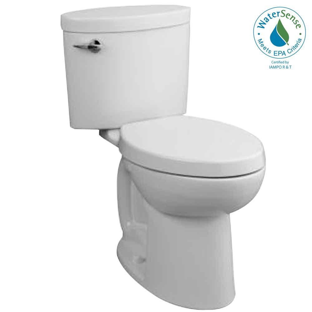 Porcher Ovale 2-Piece High-Efficiency Elongated Toilet in White-DISCONTINUED