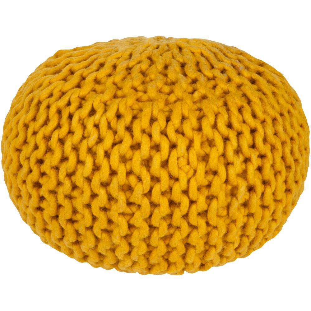 Ahanu Mustard Accent Pouf