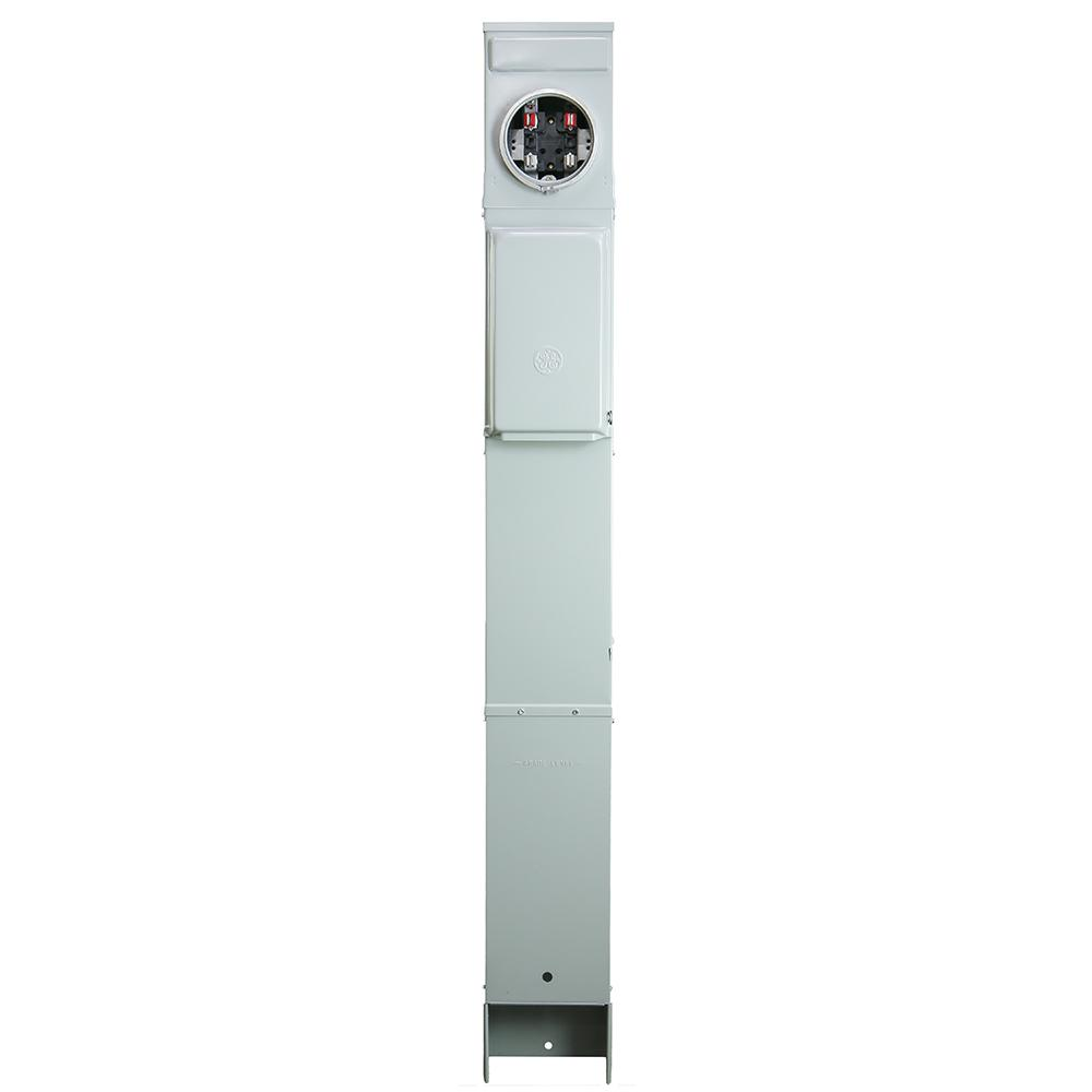 GE RV Earth Burial Metered Pedestal with Back To Back 100 Amp 120/240-