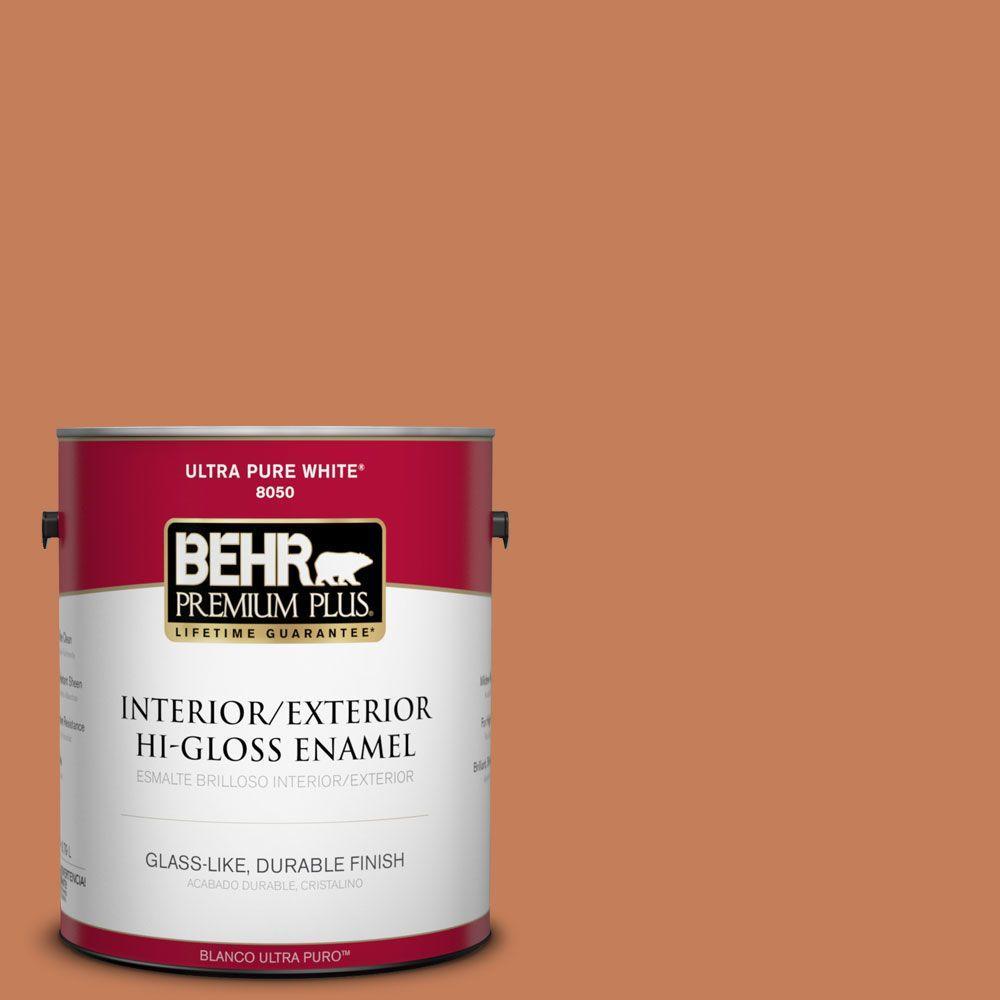1-gal. #M210-6 Orange Liqueur Hi-Gloss Enamel Interior/Exterior Paint