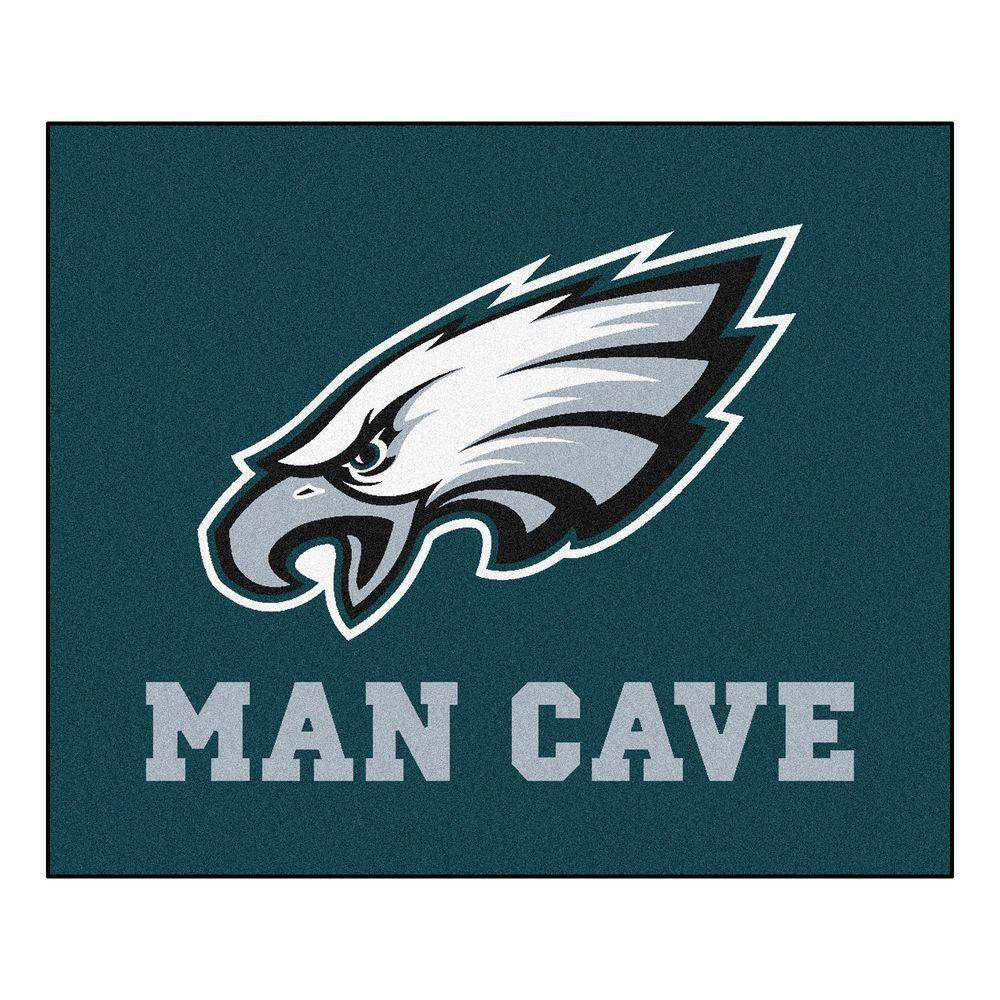 Fanmats Philadelphia Eagles Green Man Cave 5 Ft X 6 Ft