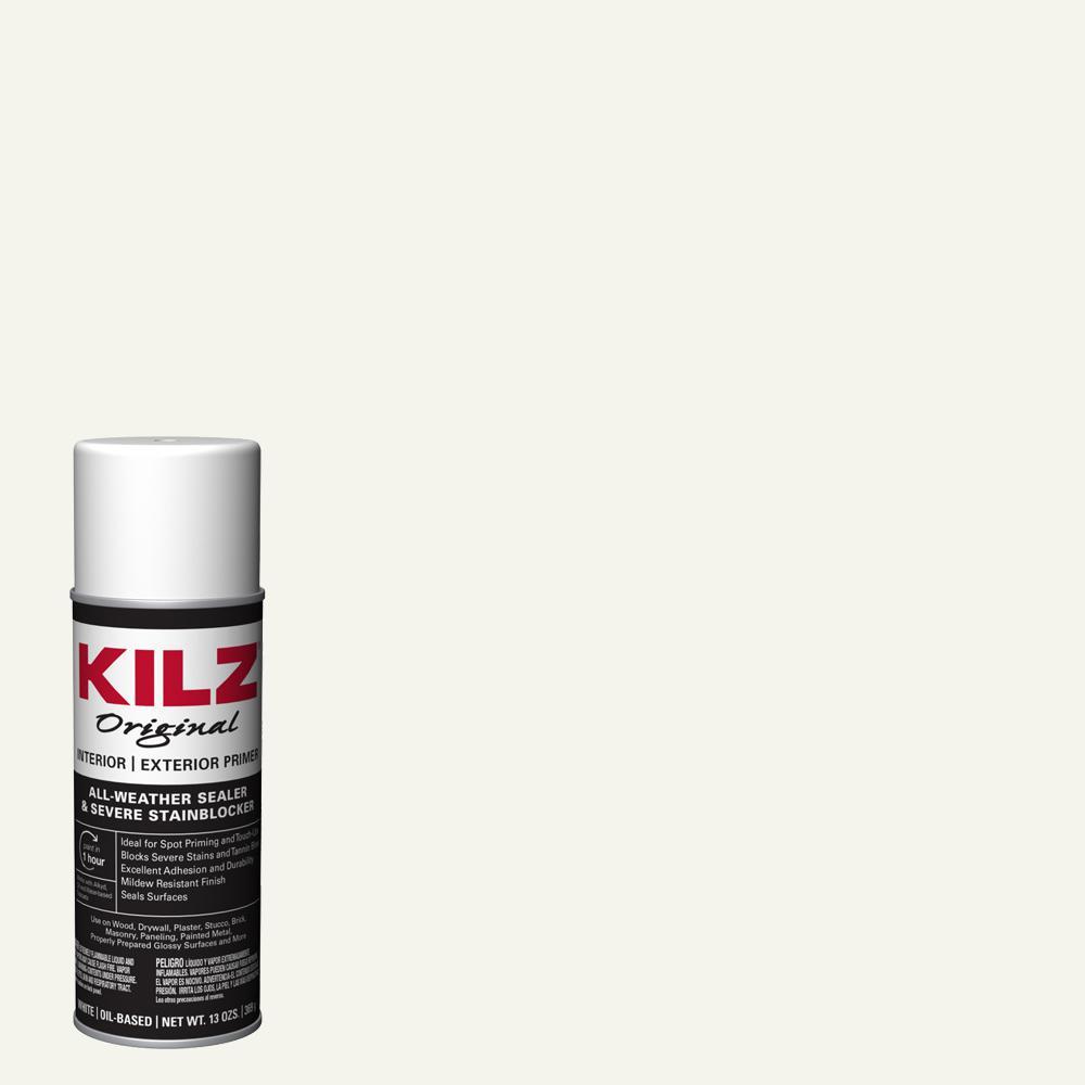KILZ Original 13 oz. White Oil-Based Interior and Exterior Primer, Sealer, and Stain Blocker Aerosol