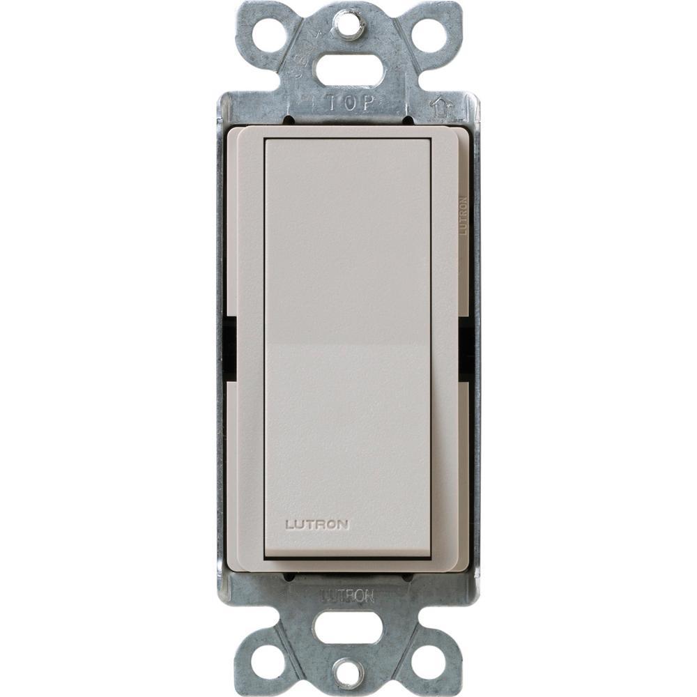 Claro 15 Amp 3-Way Rocker Switch, Taupe