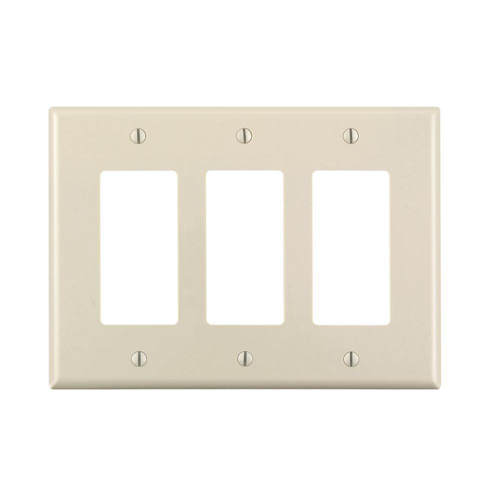 Wall Plate Light Cover Leviton Decora 3Gang Midway Nylon Wall Plate Light Almondr56