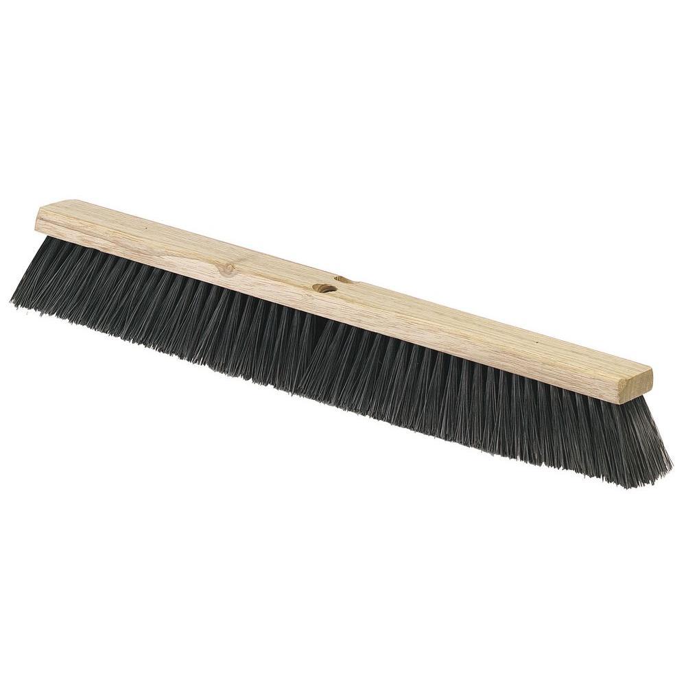 24 in. Polypropylene Wood Block Broom in Black (12-Pack)