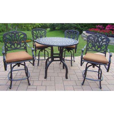 Hampton Counter Height 5 Piece Patio Bar ...