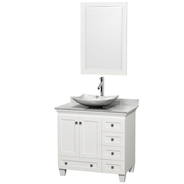 Wyndham collection acclaim 36 in w vanity in white with - Best place to buy bathroom vanities online ...