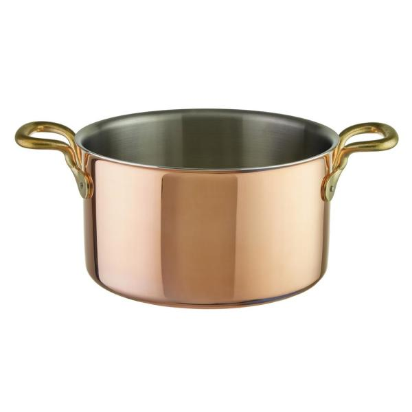 Paderno World Cuisine 1-5/8 Qt. Tri-Ply Copper Sauce Pot