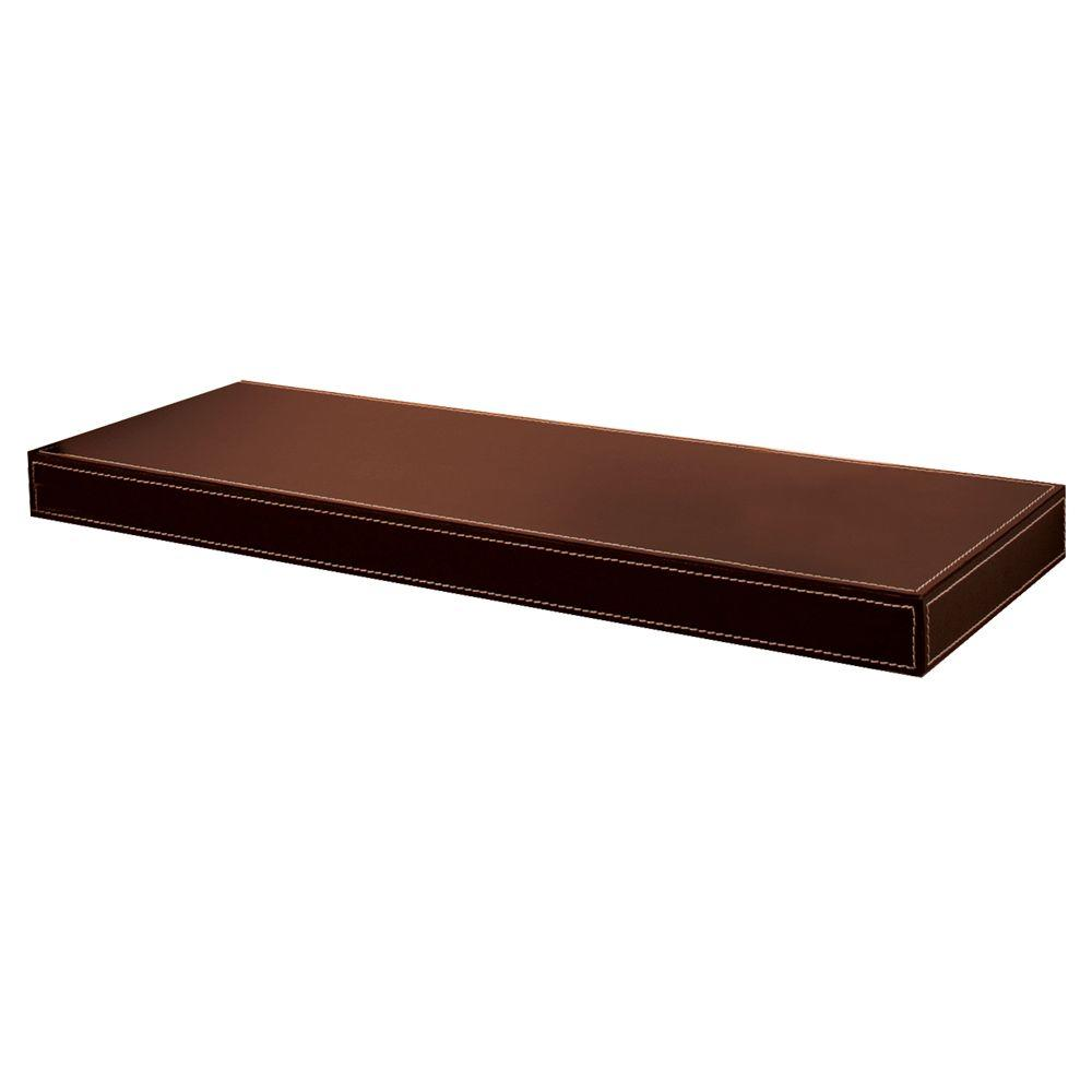 Azure 10 in. Rich Brown Leather Shelf Kit (Price Varies by