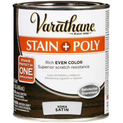 1 qt. Kona Satin Water-Based Interior Stain and Polyurethane