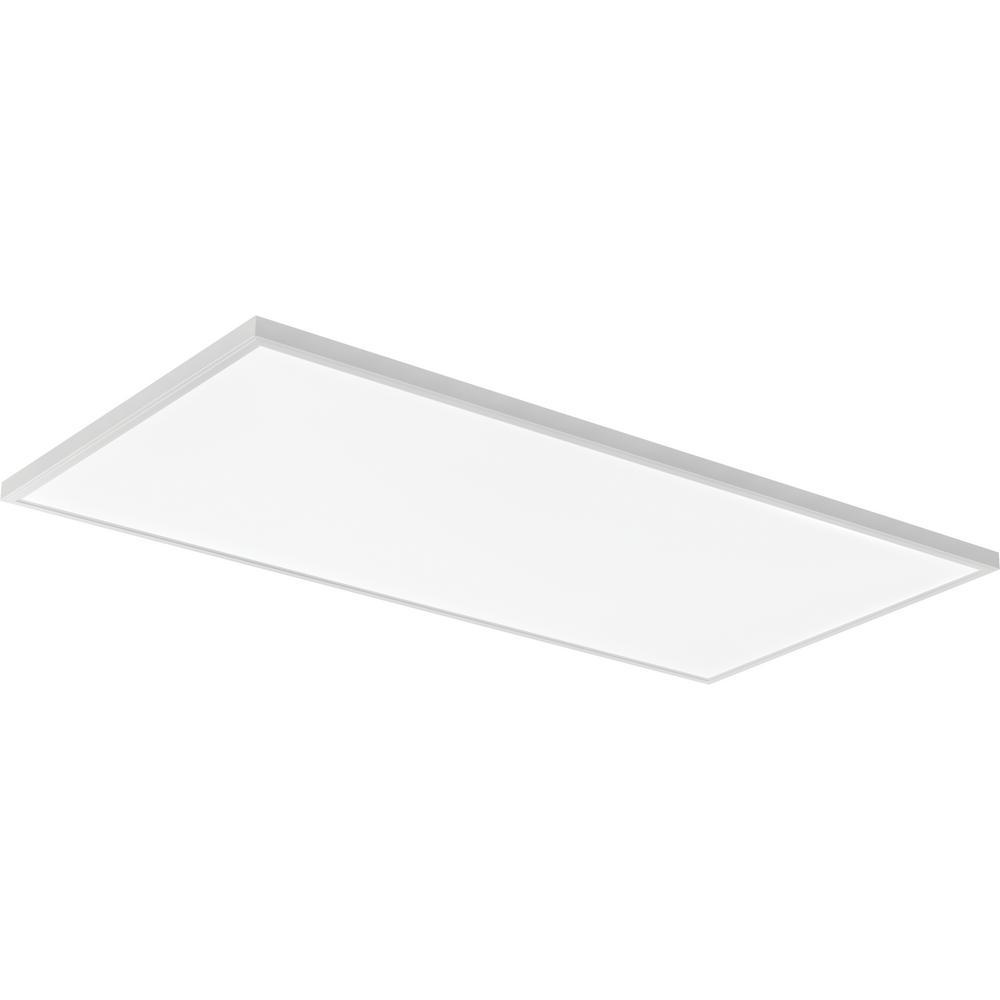 Lithonia Lighting 4 Ft 40 Watt White Integrated Led: Lithonia Lighting 2 Ft. X 4 Ft. 128-Watt Equivalent