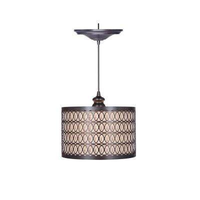 Bella 1-Light Brushed Bronze Pendant with Hardwire