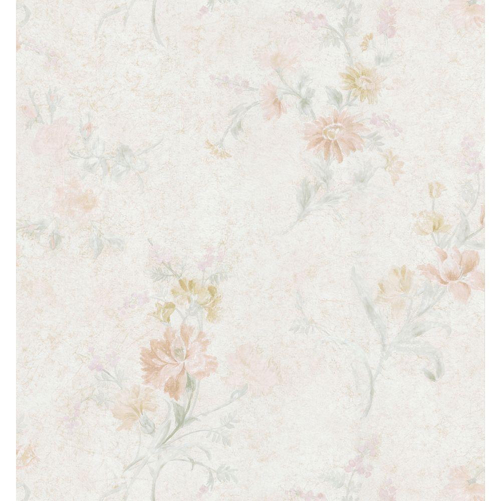 Brewster 56 sq. ft. Embossed Floral Wallpaper