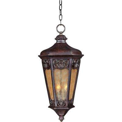 Lexington Vivex 3-Light Colonial Umber Outdoor Hanging Lantern